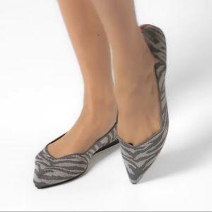 NWOT Rothy's Gray Zebra Print Shoes